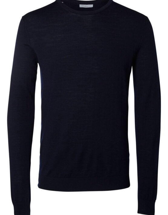 Selected – Tower Merino Strik Crew Navy