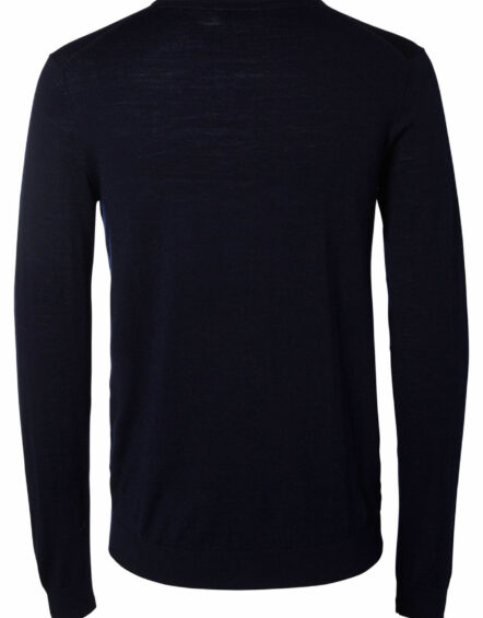 Selected - Tower Merino Strik Crew Navy | Gate 36 Hobro