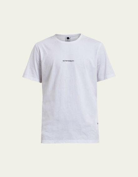 NN07 – Ethan Print Tee White 3208