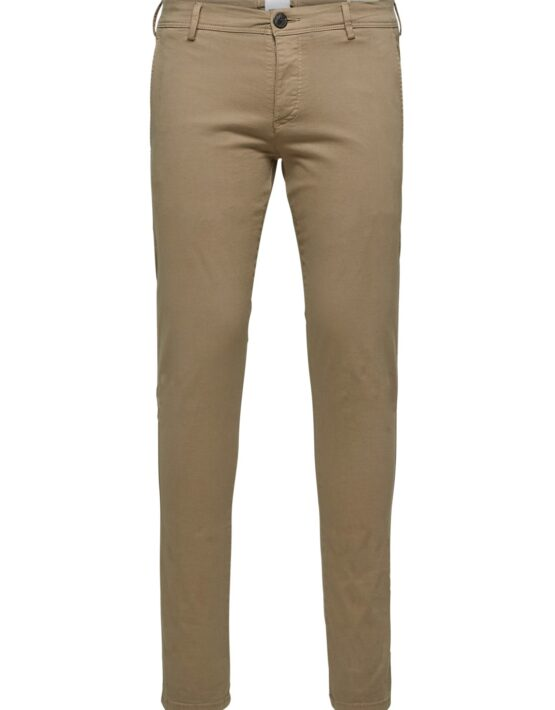 Selected - Skinny Luca Pants Greige | Gate 36 Hobro