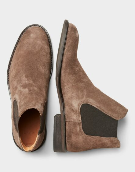 Selected Boot - BAXTER LEATHER BOOTS BROWN   Gate 36 Hobro