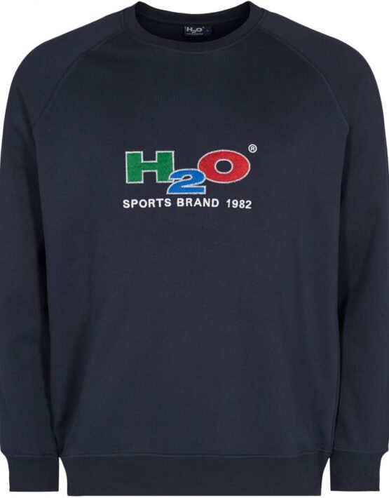 H2O - Alban Sweat O-neck Navy | Gate 36 Hobro