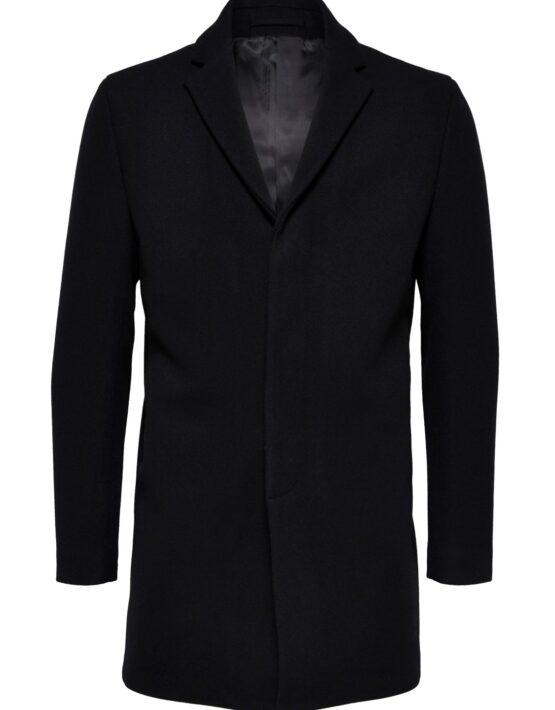 SELECTED - Slhbrove Wool Coat Black | Gate 36 Hobro