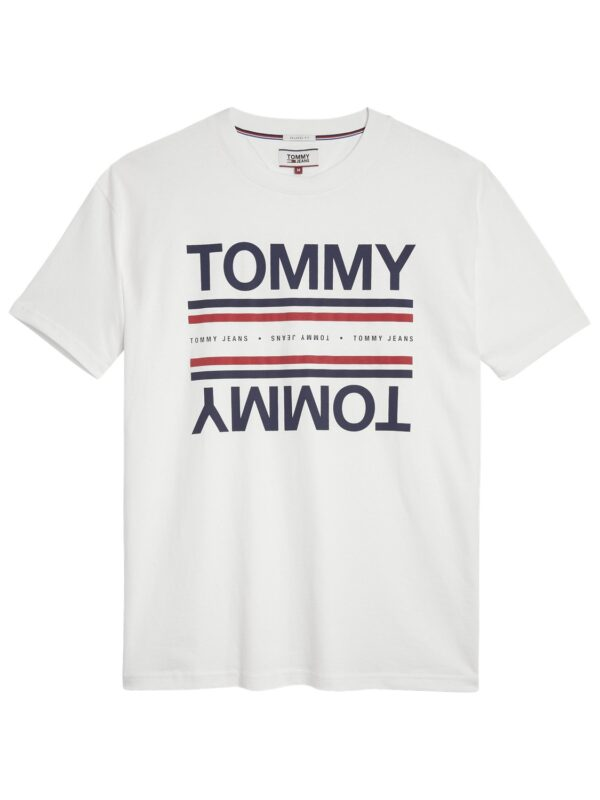 TOMMY JEANS - REFLECTION T-SHIRT white | Tommy Hilfiger | GATE 36 Hobro