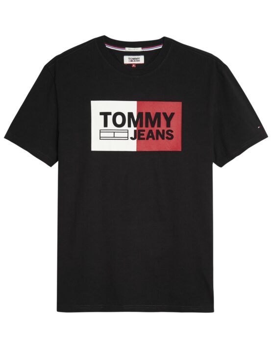 TOMMY JEANS - SPLIT T-SHIRT BLACK | Tommy Hilfiger | GATE 36 Hobro