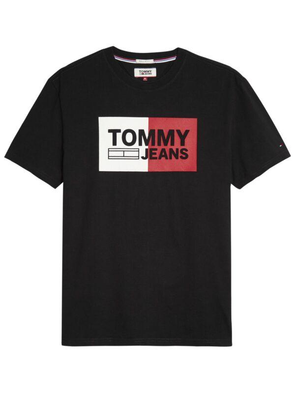 TOMMY JEANS - SPLIT T-SHIRT BLACK   Tommy Hilfiger   GATE 36 Hobro