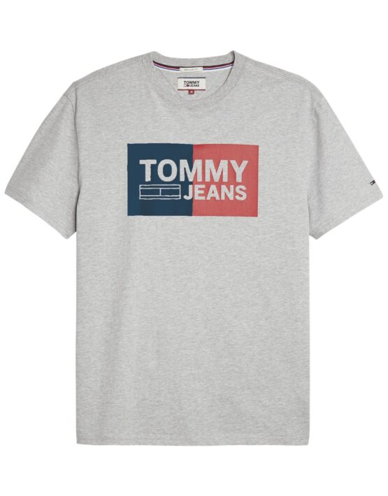 TOMMY JEANS - SPLIT T-SHIRT GREY | Tommy Hilfiger | GATE 36 Hobro