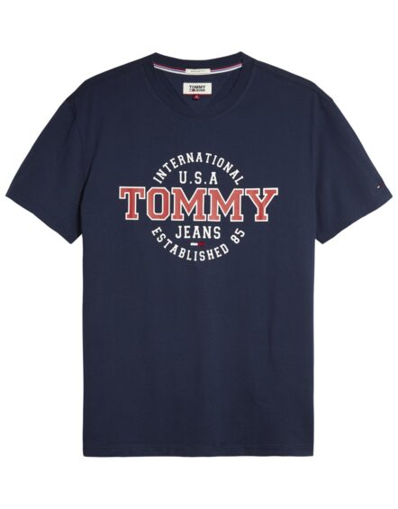 TOMMY JEANS – CIRCULAR T-SHIRT NAVY