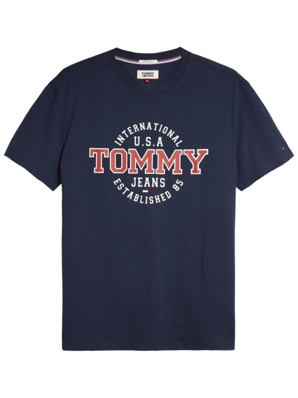 TOMMY JEANS - CIRCULAR T-SHIRT NAVY   Tommy Hilfiger   GATE 36 Hobro