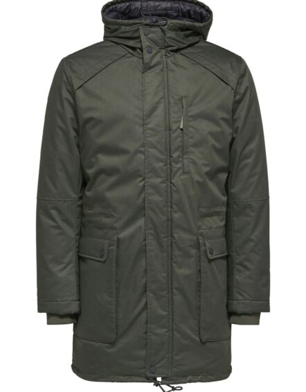 SELECTED – Vinyl Jacket Dark Green