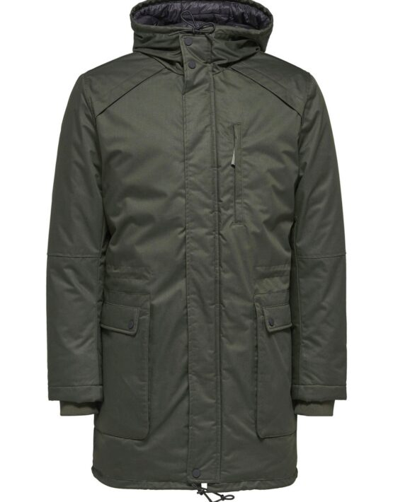SELECTED - Vinyl Jacket Dark Green | GATE36 Hobro