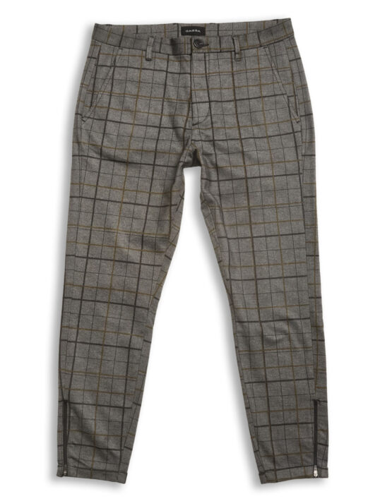 GABBA – PISA PANTS BIG CHECK GREY/YELLOW