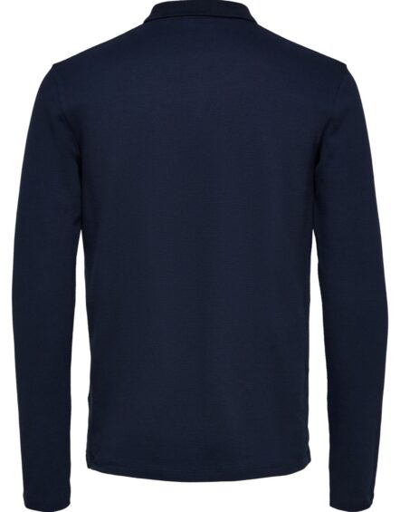 Selected - Wave LS Polo Navy | Gate 36 Hobro
