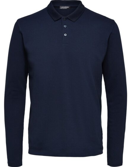 Selected – Wave LS Polo Navy