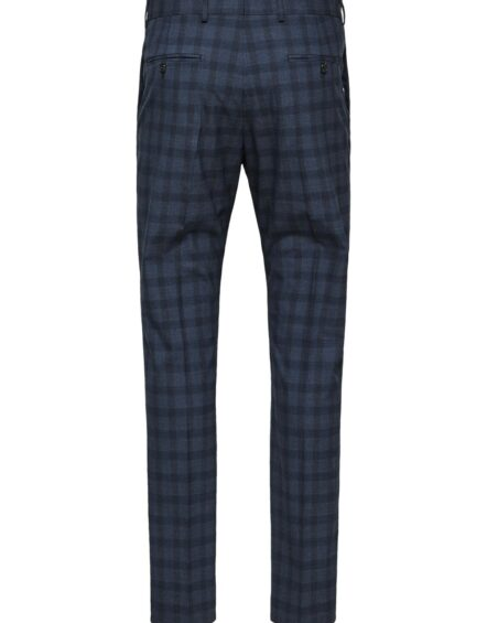 SELECTED Bukser - Navy Check | Gate 36 9500 Hobro | Herretøj