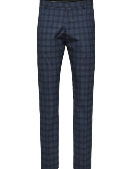 SELECTED Bukser – Navy Check