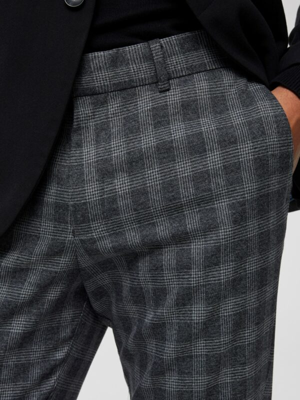 SELECTED SLIM-MATHNOHR BUKSER - Dark Grey Check 3052883 | GATE36 HOBRO