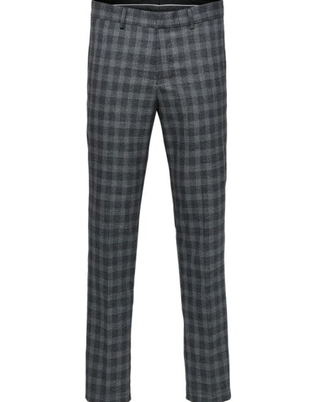 SELECTED SLIM-MATHNOHR BUKSER – Dark Grey Check