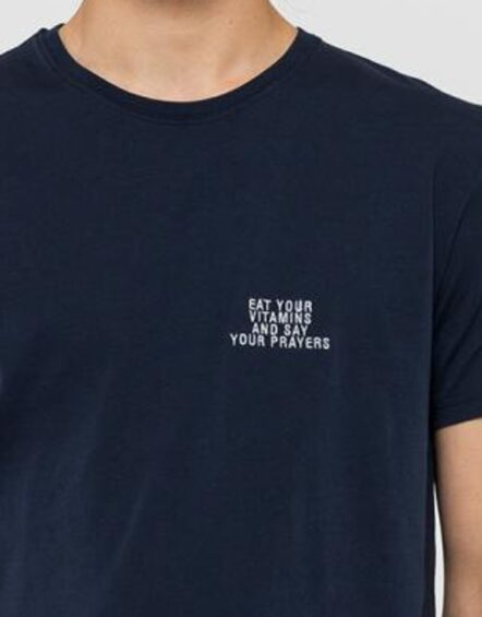 RVLT T-Shirt - 1108 Eat Navy   Gate 36 Hobro   Herretøj