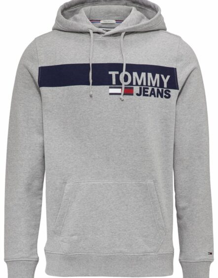 TOMMY JEANS Ess. Graphic Hoodie Grey