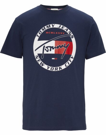 TOMMY JEANS Graphic T-shirt Navy