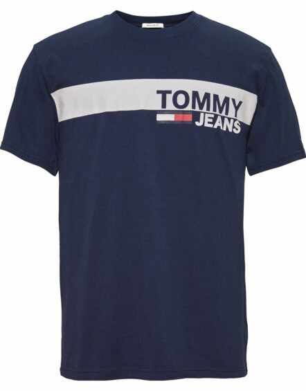 TOMMY JEANS Ess. Box Logo T-shirt Navy