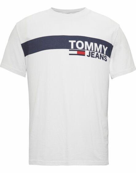 TOMMY JEANS Ess. Box Logo T-shirt White