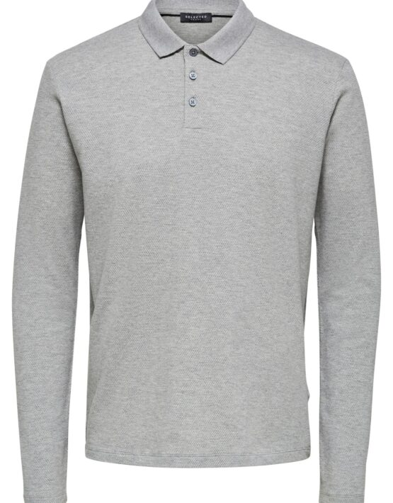 Selected – Wave LS Polo Grey