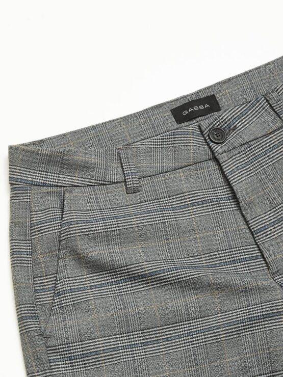 GABBA Jason Chino Shorts English Grey Check | GATE36 Hobro