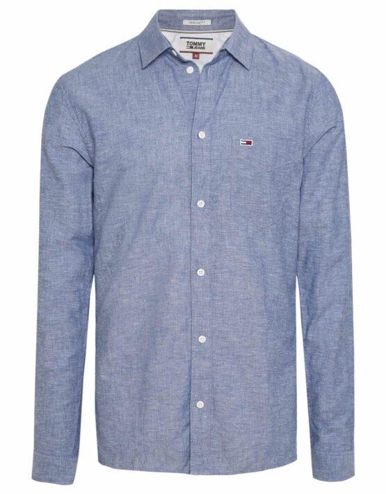 Tommy Hilfiger Linen Shirt Navy Mel
