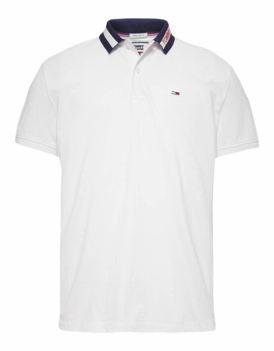 Tommy Hilfiger Tipped Collar Polo White