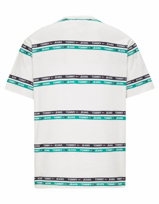TOMMY JEANS - Signature Stripe White/Green/Black | GATE36 Hobro