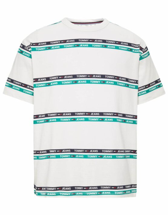 TOMMY JEANS – Signature Stripe White/Green/Black
