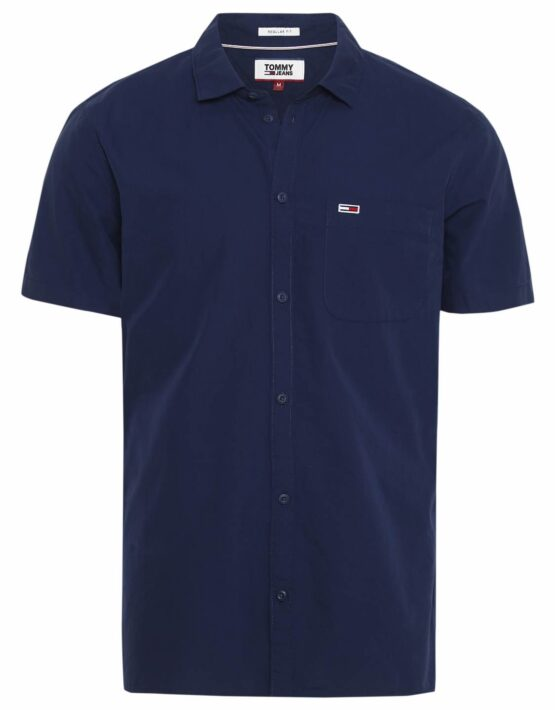 Tommy Hilfiger S/S Solid Poplin Navy