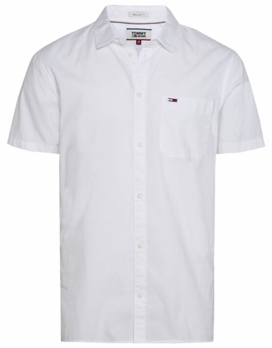 Tommy Hilfiger S/S Solid Poplin White