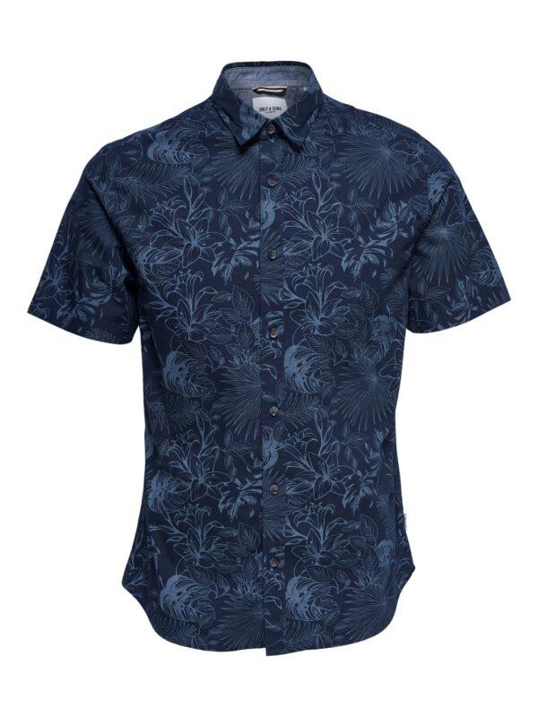 Only & Sons Mothy Floral Skjorte SS Dress Blue | Gate 36 Hobro | Herretøj