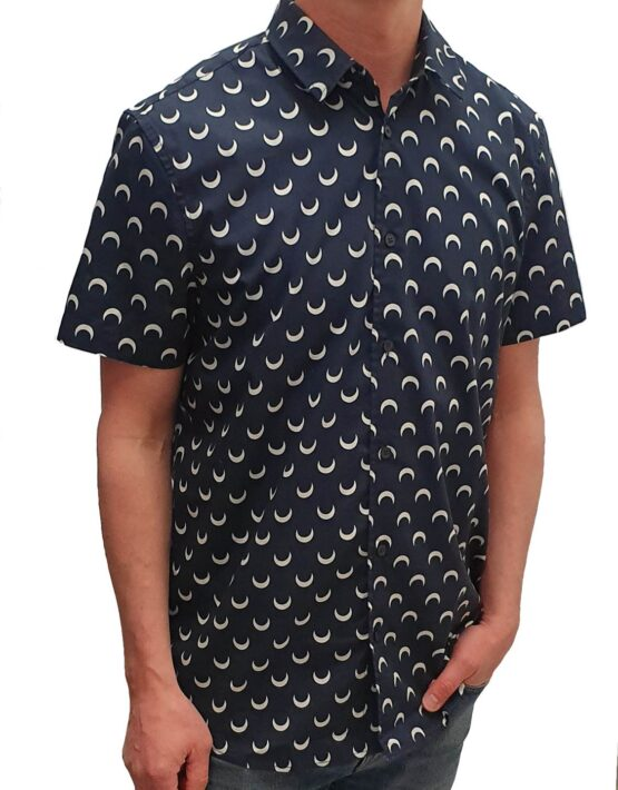 Samsøe Samsøe Skjorte – Vento NX AOP 8015 Blue Luna
