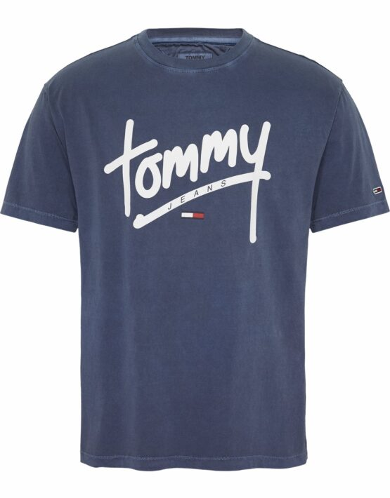 Tommy Hilfiger T-shirt hand write tee Blue