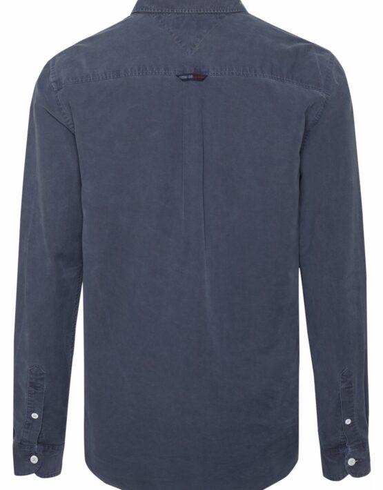 Tommy Hilfiger Washed Oxford Skjorte Blue | GATE36 HOBRO