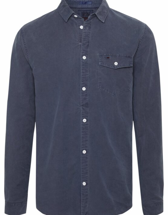 Tommy Hilfiger Washed Oxford Skjorte Blue