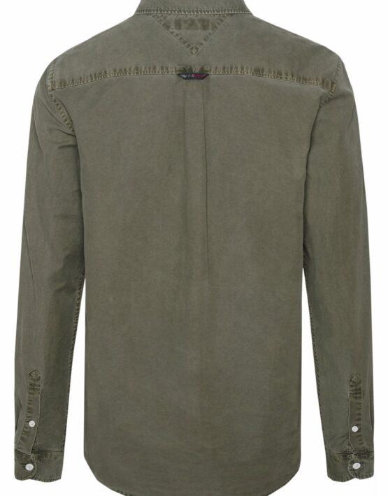 Tommy Hilfiger Washed Oxford Skjorte Green | GATE36 HOBRO