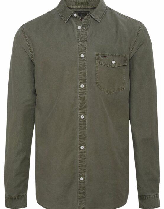 Tommy Hilfiger Washed Oxford Skjorte Green