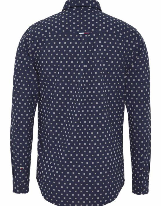 Tommy Hilfiger Dobby Skjorte Blue Print | GATE36 HOBRO