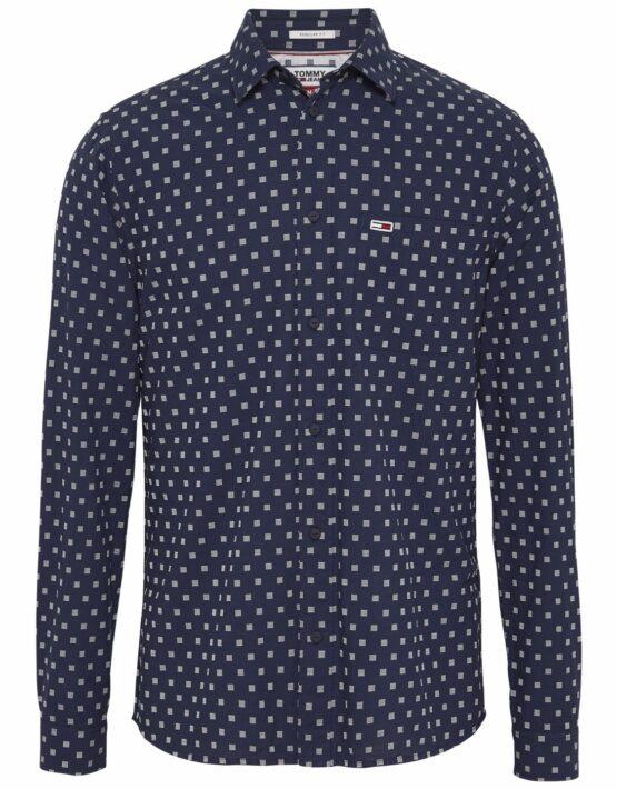 Tommy Hilfiger Dobby Skjorte Blue Print