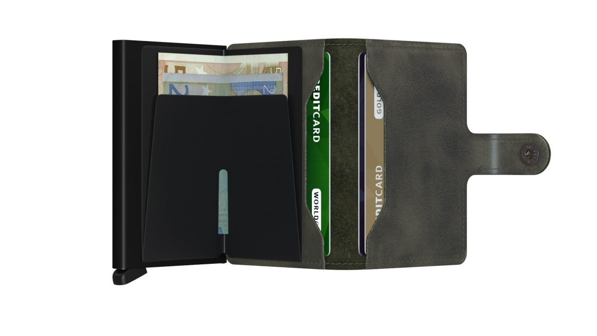 Secrid Miniwallet - Vintage Olive/Black   Gate 36 Hobro   Herretøj