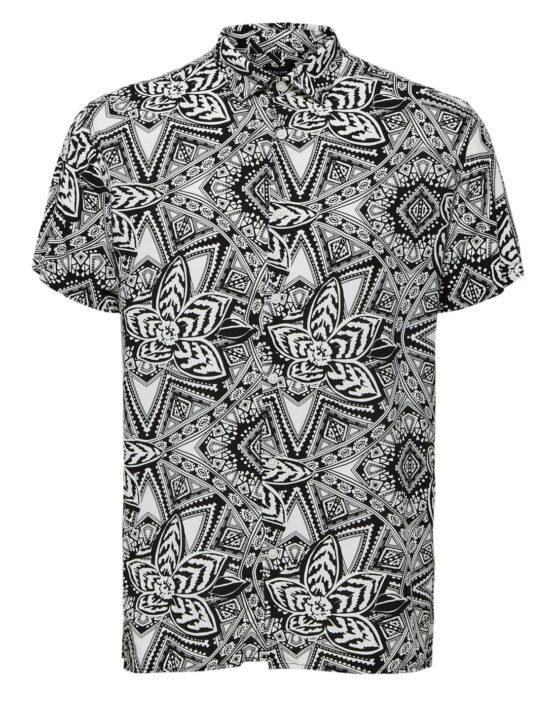 SELECTED REGVEGA Skjorte White/black
