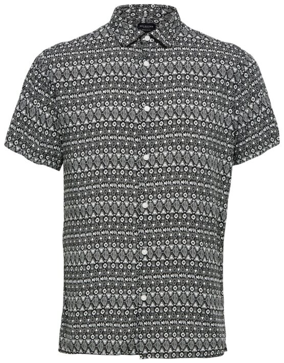 SELECTED REGVEGA Skjorte Black/white