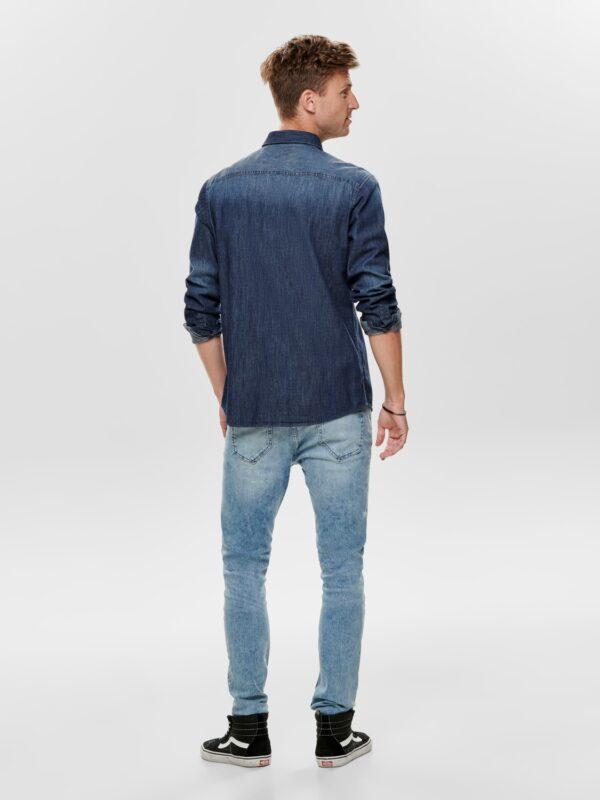 Only & Sons Denim Skjorte | GATE36 Hobro