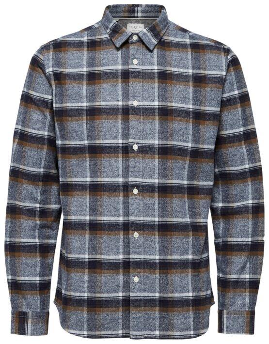 Selected Skjorte – Reg Niels Shirt Blue Check