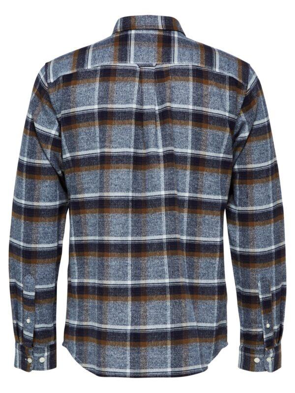 Selected Skjorte - Reg Niels Shirt Blue Check | GATE36 Hobro